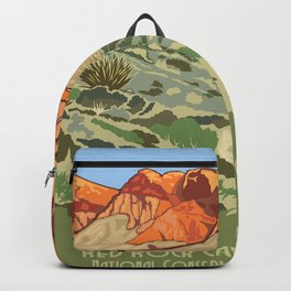 Vintage Poster - Red Rock Canyon National Conservation Area, Nevada (2015) Backpack