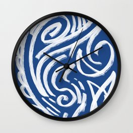 Cool Tribe of Water Abstract Pattern Wall Clock