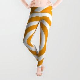 Circles (Orange & White Pattern) Leggings