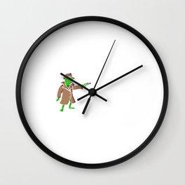 Croak and Dagger Wall Clock