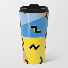 Memphis Style Retro Flash Travel Mug