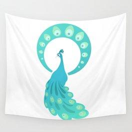 Paon bleu Wall Tapestry