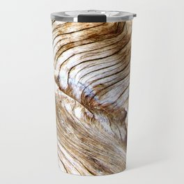 Organic design Tree Wood Grain Driftwood natures pattern Travel Mug