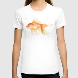 Goldfish Watercolor Fish T-shirt