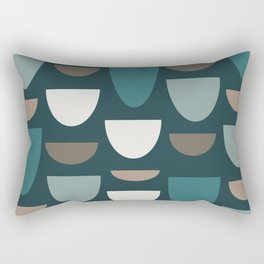 Turquoise Bowls Rectangular Pillow