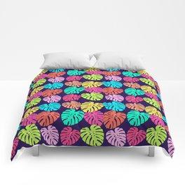 Monstera Deliciosa Print Comforters