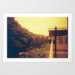 Overlooking Art Print