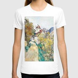 The House of Dr Gachet in Auvers-sur-Oise by Paul Cézanne T-shirt