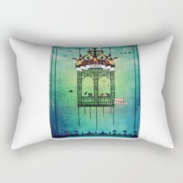 travelling with elephants Rectangular Pillow