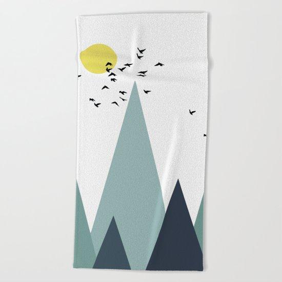 Morning birds Beach Towel