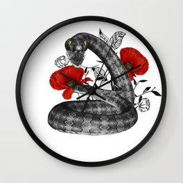 Snake in a garden Wall Clock