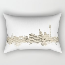 Berlin Germany Skyline Sheet Music Cityscape Rectangular Pillow