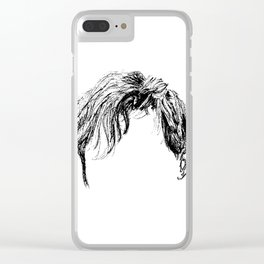 First I do coffee then I do HAIR Clear iPhone Case