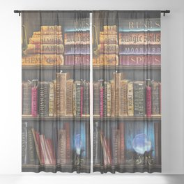 White Witchery Book Nook Sheer Curtain