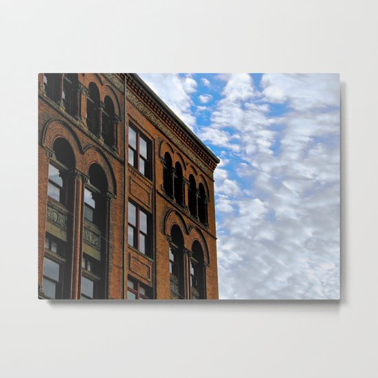 Corner of Main St. & Sky Metal Print