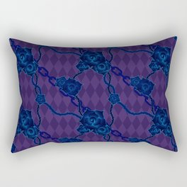 Thorny Rose Vines with Chains Rectangular Pillow