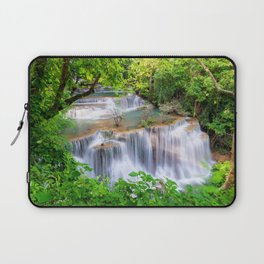 jungle tropical waterfall river Thailand tourism beautiful waterfalls summer Laptop Sleeve