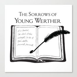 The Sorrows of Young Werther by Goethe Canvas Print