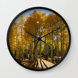 Autumn Blaze outside of Crested Butte, Colorado for #Society6 Wall Clock