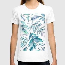 Teal manic botanic T-shirt