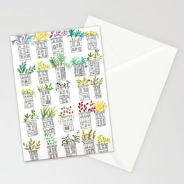 Row House Planters Stationery Cards