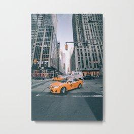 Manhattan Morning Rush Metal Print