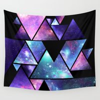 cosmos Wall Tapestries featuring cosmos  by artic