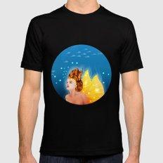 Mermaid Black MEDIUM Mens Fitted Tee