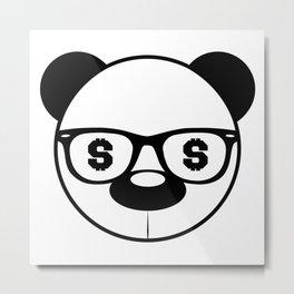 Money Panda Metal Print
