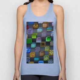 Cubes with abstract colors and gradients Unisex Tank Top
