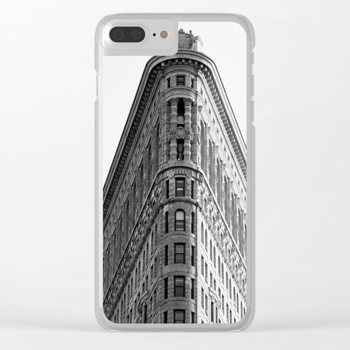 Flatiron Black and White NYC Clear iPhone Case