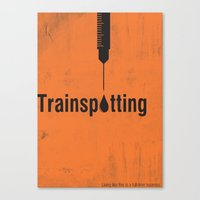 trainspotting Canvas Prints featuring Trainspotting by Toniq