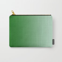 Green to Pastel Green Vertical Linear Gradient Carry-All Pouch