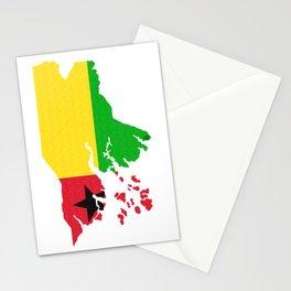 Guinea-Bissau Guinea Bissau Map with Flag Stationery Cards