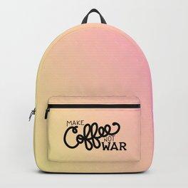 Coffee Not War (Sunset) Backpack