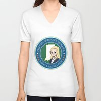 parks and rec V-neck T-shirts featuring Parks & Rec. by BlackRose Designs