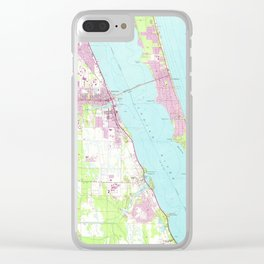 Vintage Map of Melbourne Florida (1949) Clear iPhone Case