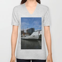 Coast Guard Cutter Taney Baltimore Harbor Unisex V-Neck