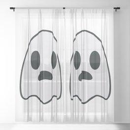 Dib's Ghost Sheer Curtain