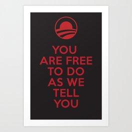 Obama meets Orwell / Freedom Art Print