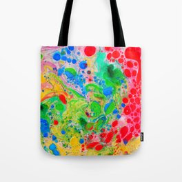 Marbling 4, Tie Dye Effect Abstract Pattern Tote Bag