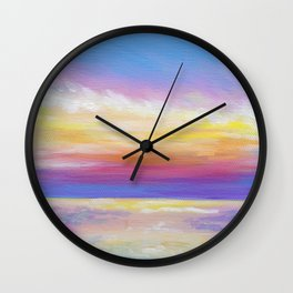 sunset in rodanthe Wall Clock