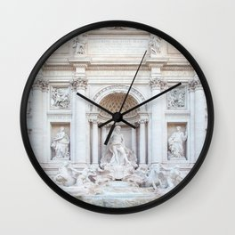 Trevi Fountain - Rome Italy Architecture, Travel Photography Wall Clock