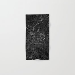Atlanta Black Map Hand & Bath Towel
