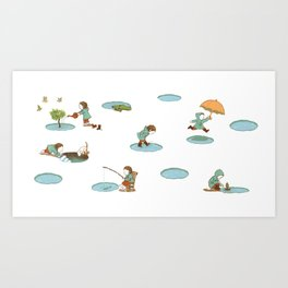 puddles Art Print