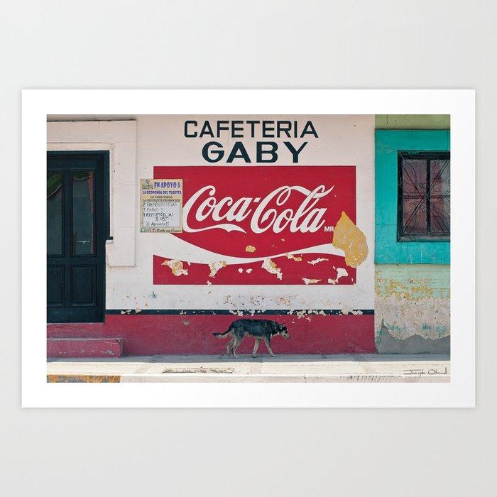 Coca Cola Mexico Stray Dog Art Print