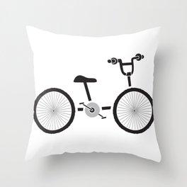 Bicycle Ride Throw Pillow