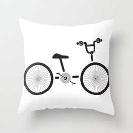 Bicycle Ride Throw Pillow