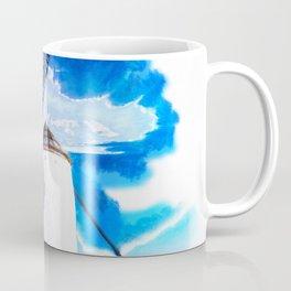 wind mill landscape digital aquarell aqstd Coffee Mug