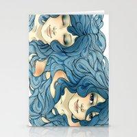 aqua Stationery Cards featuring Aqua by saravidigal